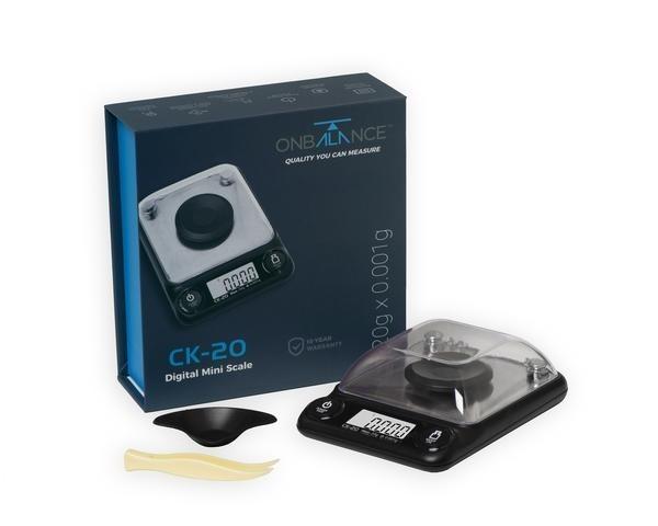 Báscula de precisión CK-20 20g x 0.001g Máxima precisión complementos