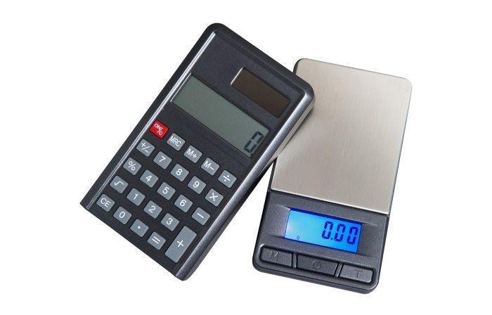 Báscula de precisión calculadora