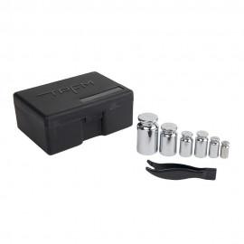 Caja de kit de 16 pesas de calibración
